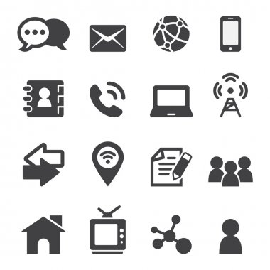 Contact icon stock vector