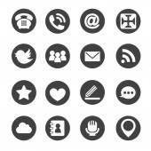 Webes kommunikációs ikonok internet vektor beállítása