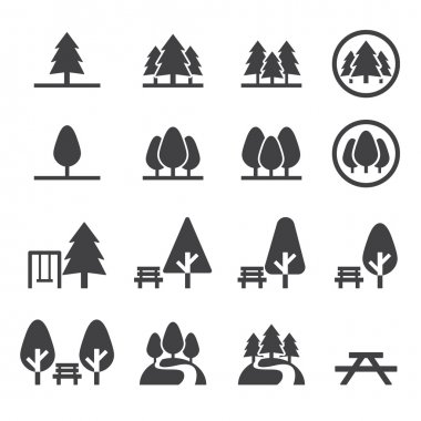 Park icon set stock vector