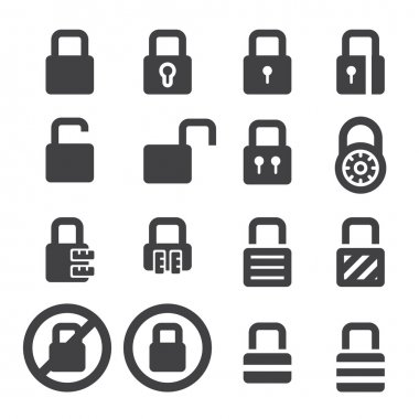lock icon set