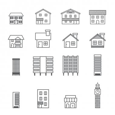 Building icon.line vector