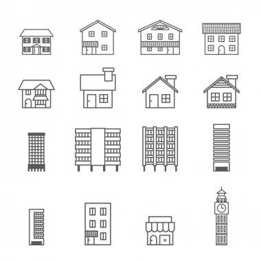 building icon.line vector