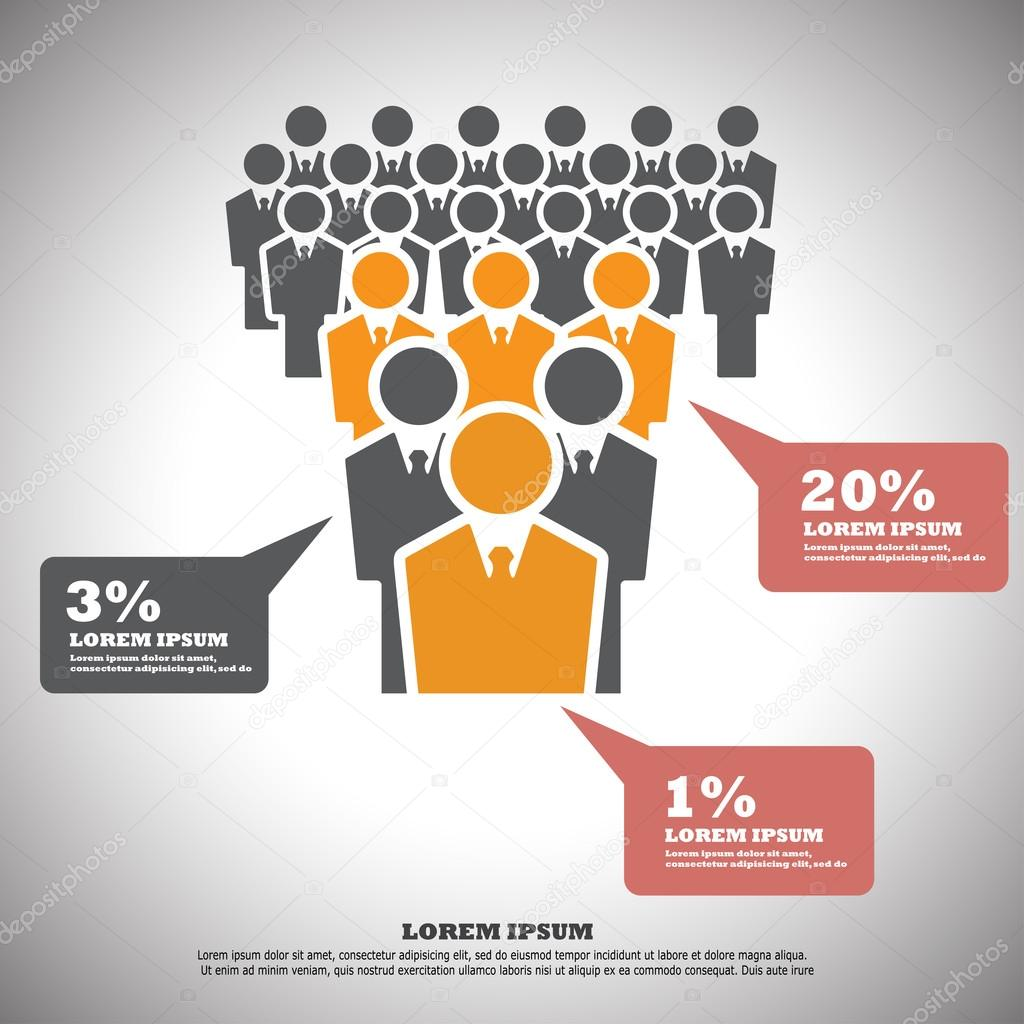 Vector illustration of human resources