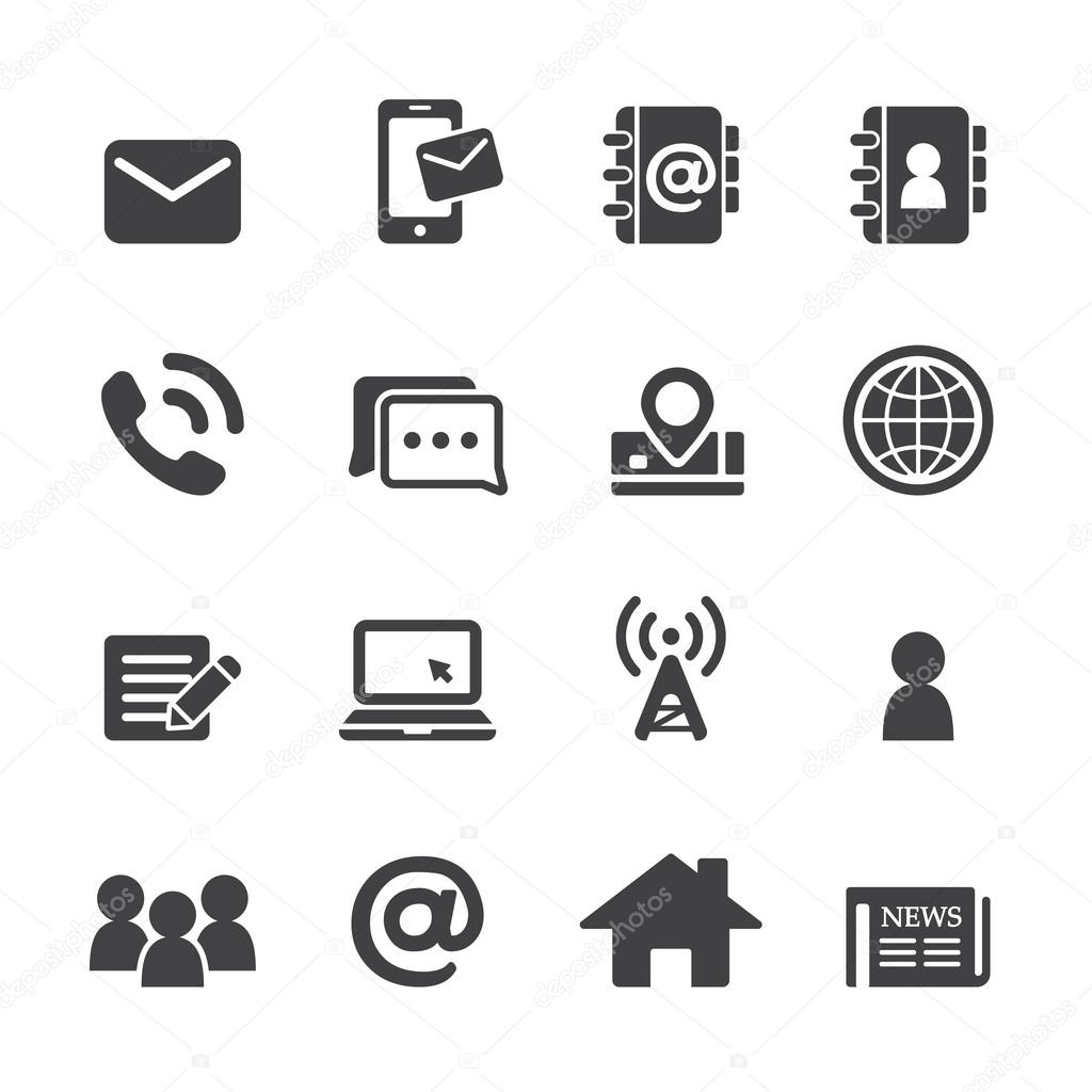 contact icon set