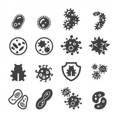 bacteria icon set