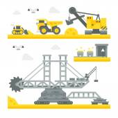 Fotografie Flache Bauform Bergbauausrüstungen Website
