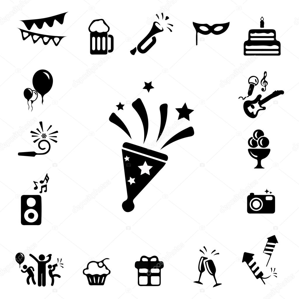 Celebration and Party icons set