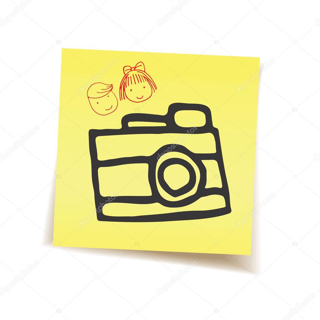 Memoried camera on post it