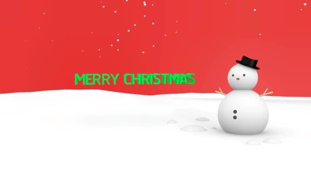 Veselé Vánoce a sněhulák