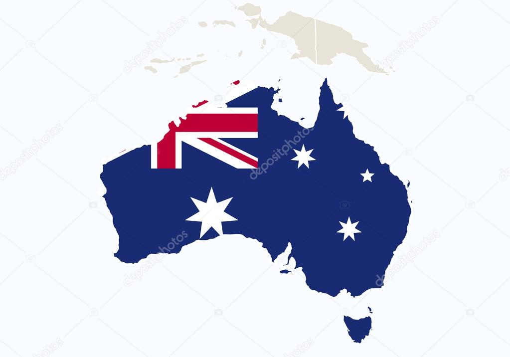 Oceania with highlighted australia map stock vector boldg oceania with highlighted australia map stock vector gumiabroncs Images