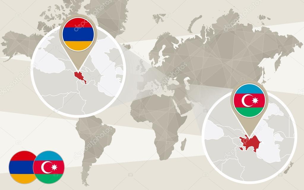 World map zoom on azerbaijan armenia vector de stock boldg world map zoom on azerbaijan armenia vector de stock gumiabroncs Gallery