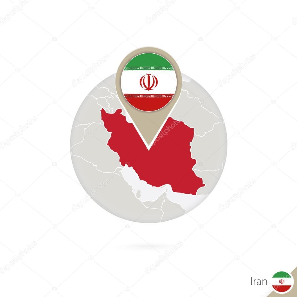 Iran map and flag in circle map of iran iran flag pin stock iran map and flag in circle map of iran iran flag pin buycottarizona Choice Image