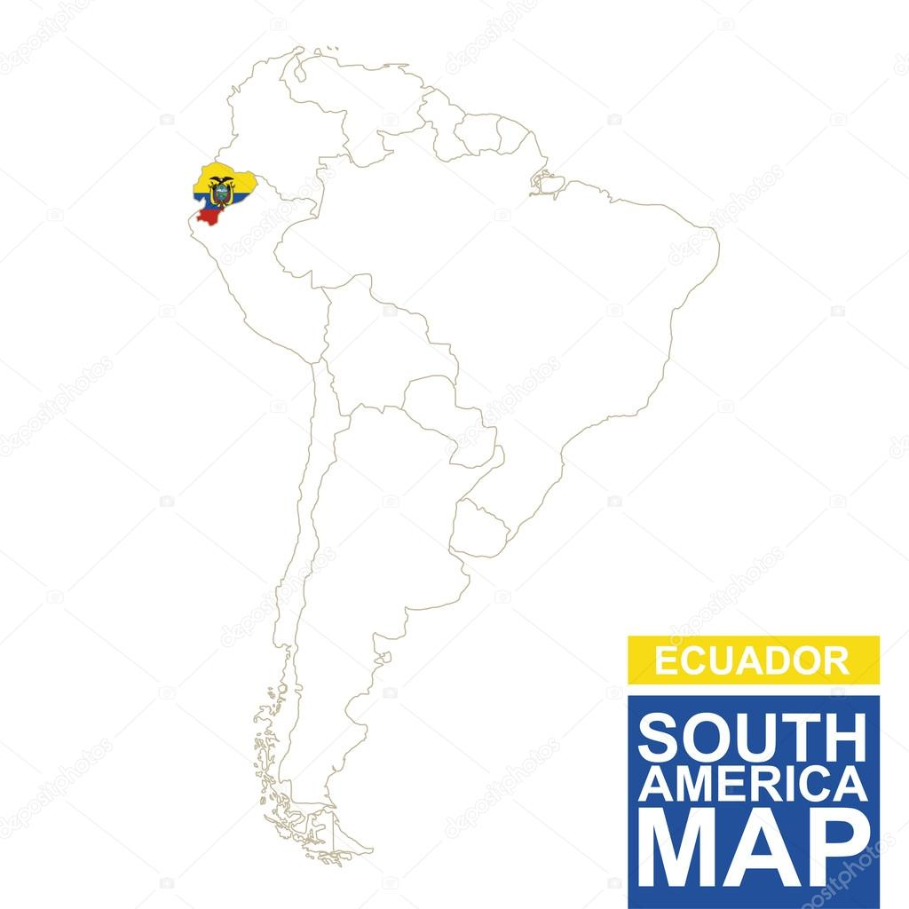 South america contoured map with highlighted ecuador vector de south america contoured map with highlighted ecuador ecuador map and flag on south america map vector illustration vector de boldg gumiabroncs Image collections