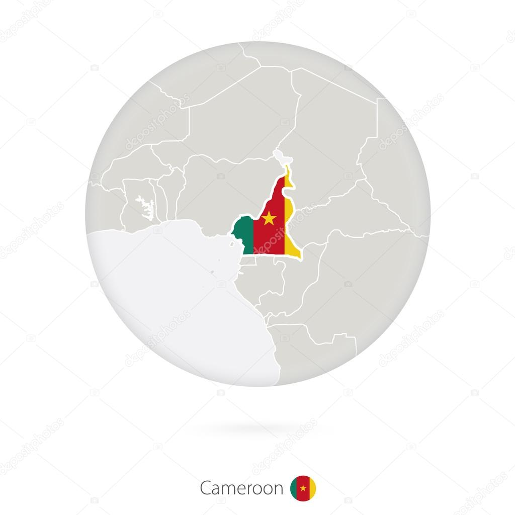 Map of cameroon and national flag in a circle vetores de stock map of cameroon and national flag in a circle cameroon map contour with flag vector illustration vetor de boldg ccuart Image collections