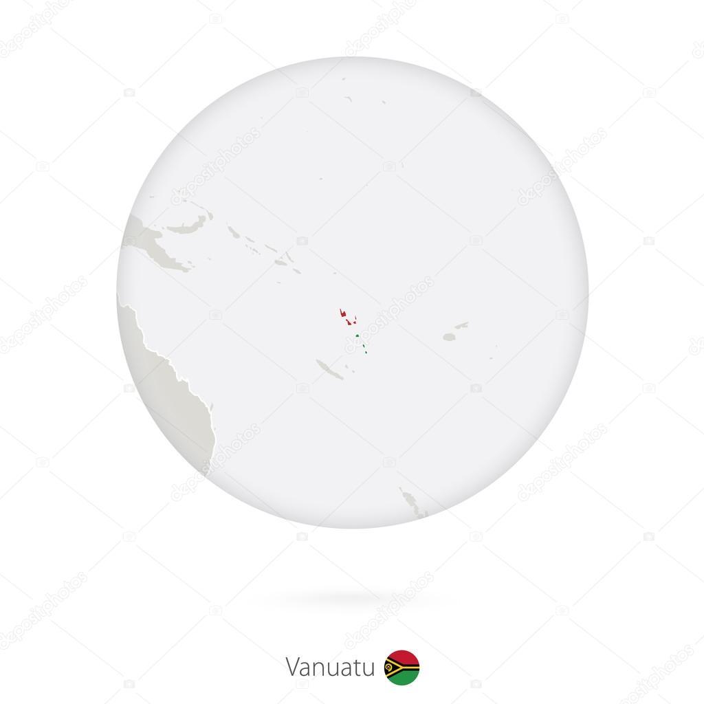 Map Of Vanuatu And National Flag In A Circle Stock Vector - Vanuatu map download