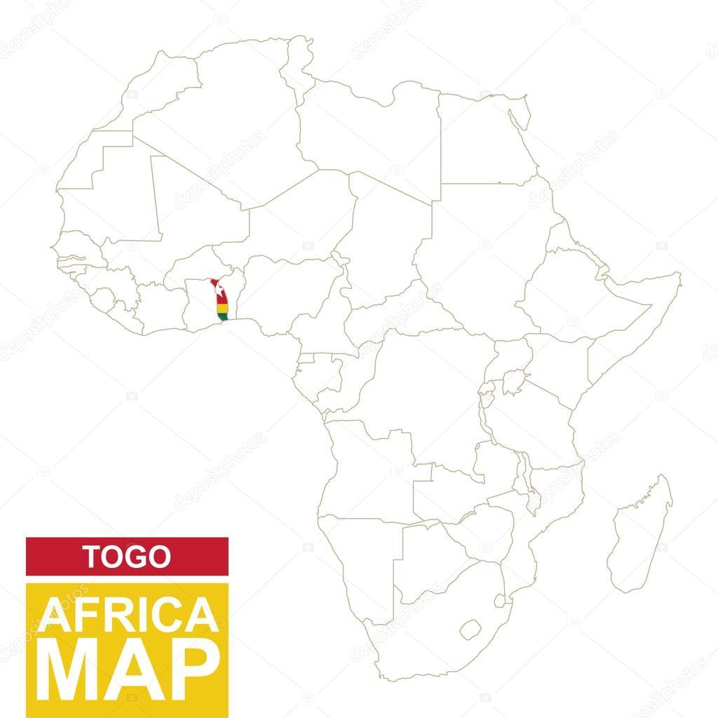 Mapa contorno de africa con togo resaltado archivo imgenes mapa contorno de africa con togo resaltado archivo imgenes vectoriales gumiabroncs Images