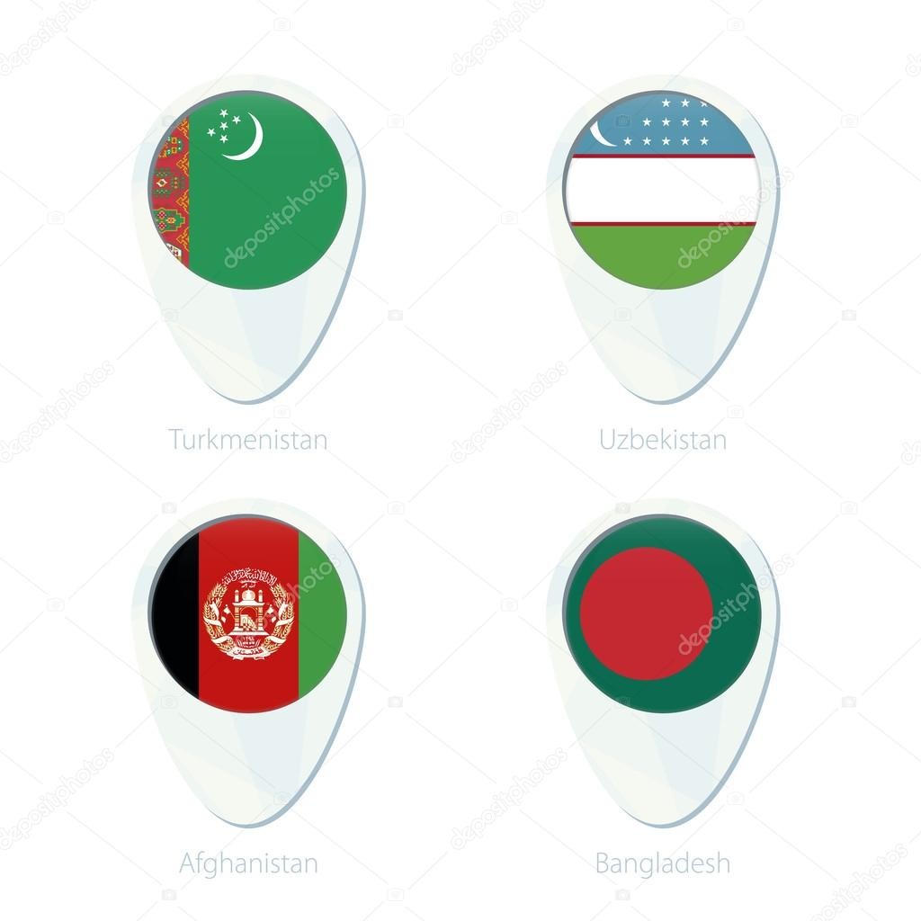 Turkmenistan Uzbekistan Afghanistan Bangladesh flag location map