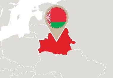 Belarus on Europe map