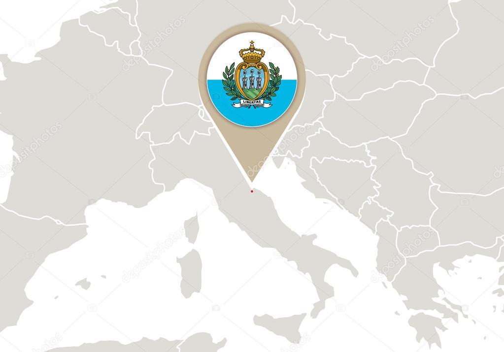 San Marino Mapa Europa.San Marino Mapa Europa Vector De Stock C Boldg 57574933