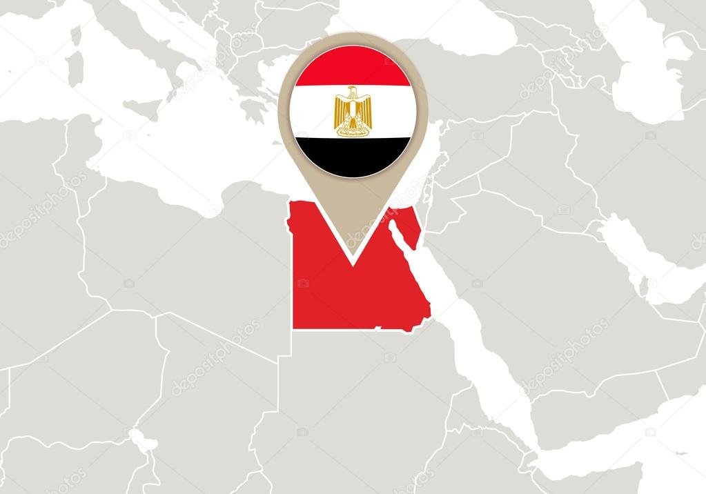 Egypt on world map stock vector boldg 58637677 africa with highlighted egypt map and flag vector by boldg gumiabroncs Gallery