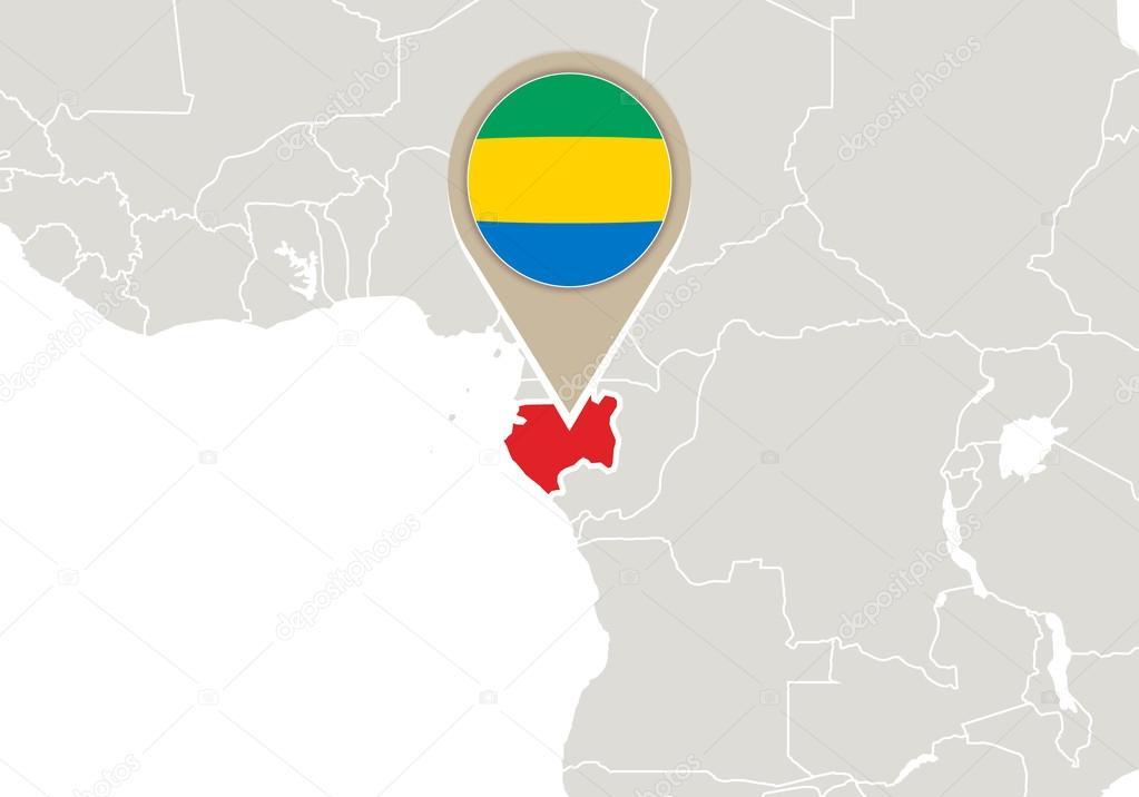 Gabon On World Map Stock Vector Boldg - Where is gabon on the world map