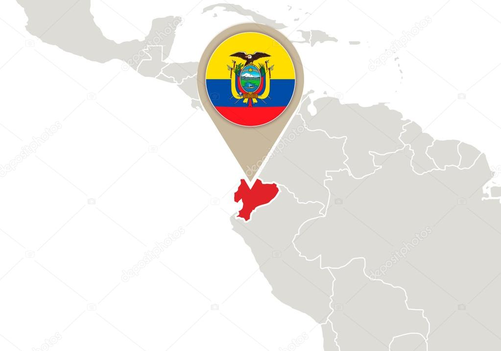 Ecuador en el mapamundi archivo imgenes vectoriales boldg 58964395 map with highlighted ecuador map and flag vector de boldg gumiabroncs Image collections