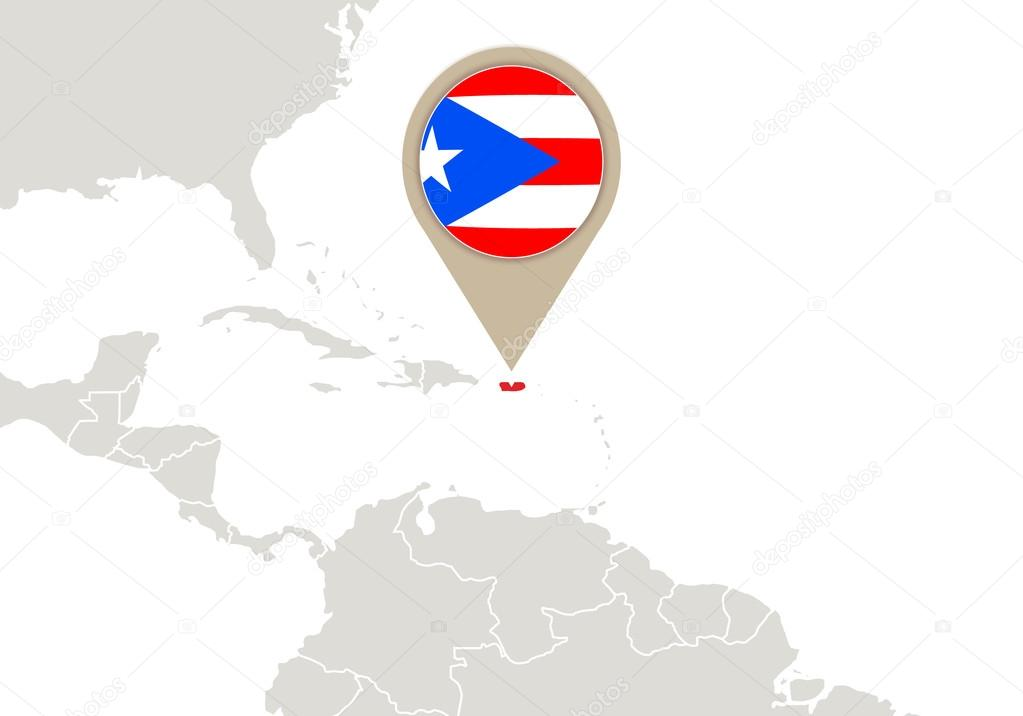 Puerto Rico on World map — Stock Vector © boldg #59688141