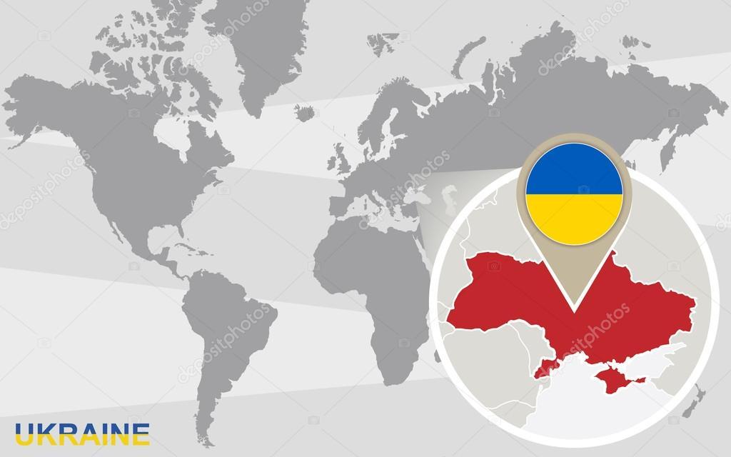 Mapa Mapa Sveta Ukrajina
