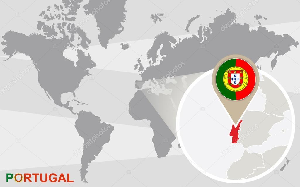mapa portugal no mundo Mapa múndi Portugal ampliada — Vetores de Stock © boldg #70433065 mapa portugal no mundo