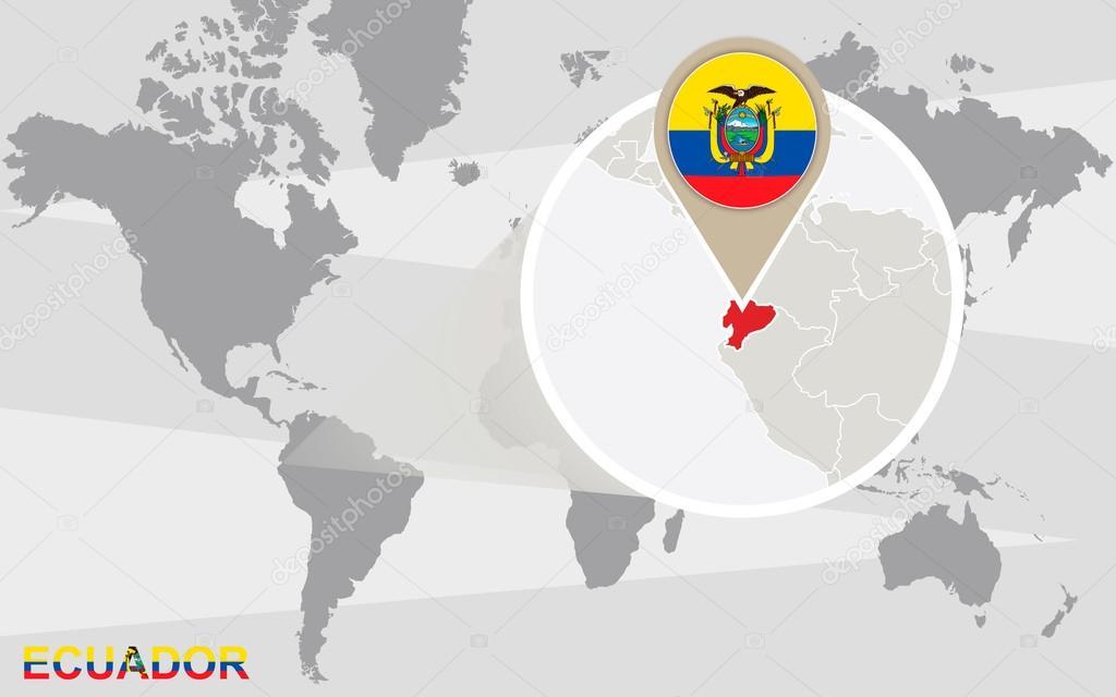 Carte Du Monde Avec Equateur.Carte Du Monde Avec L Equateur Agrandie Image Vectorielle