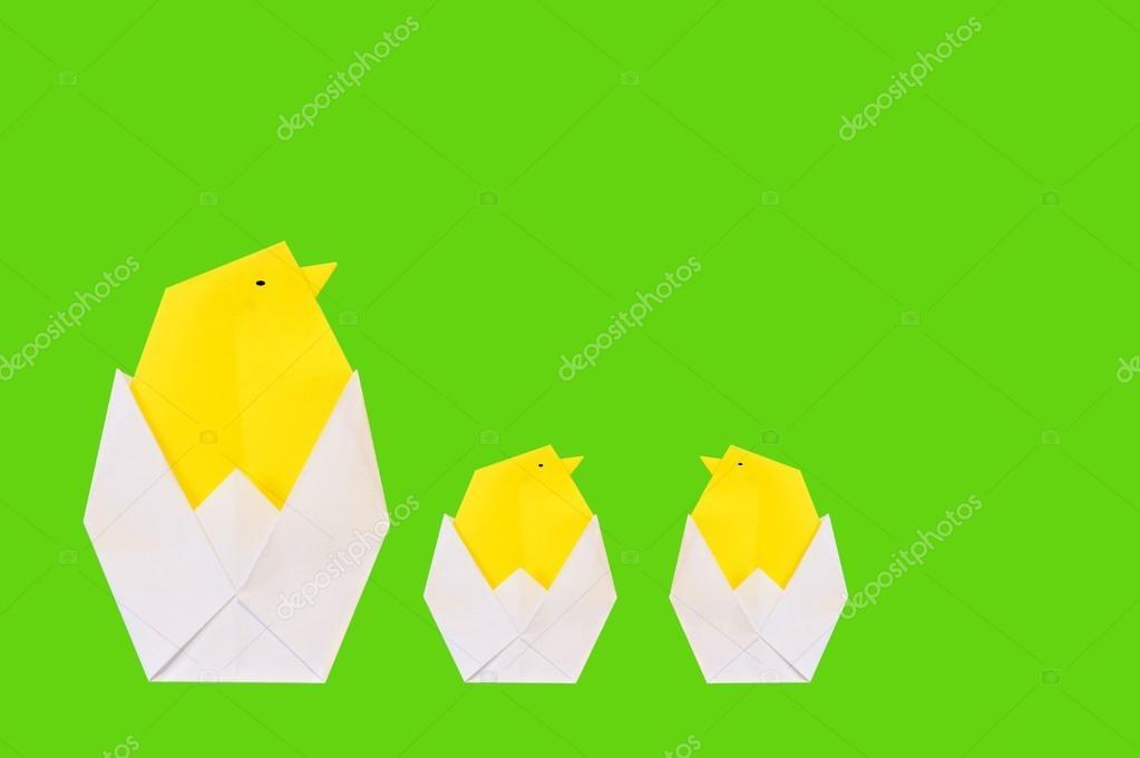 Оригами на открытку яйца