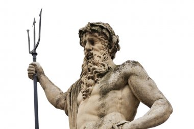 Monument to Neptune on a white background