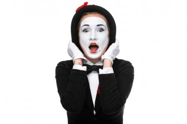 Portrait of the surprised mime