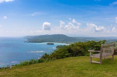 Caribbean beach on the northern coast of Jamaica, near Dunns River Falls and town Ocho Rios.