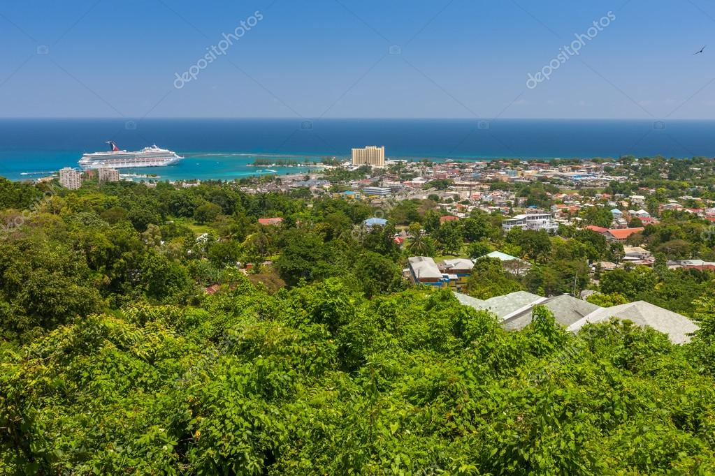 Caribbean beach on the northern coast of Jamaica, near Dunns River Falls and town Ocho Rios.