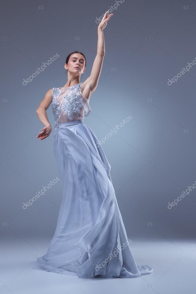 Robe longue et ballerine