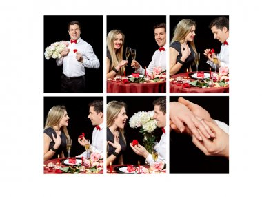 Collage of lovely couple