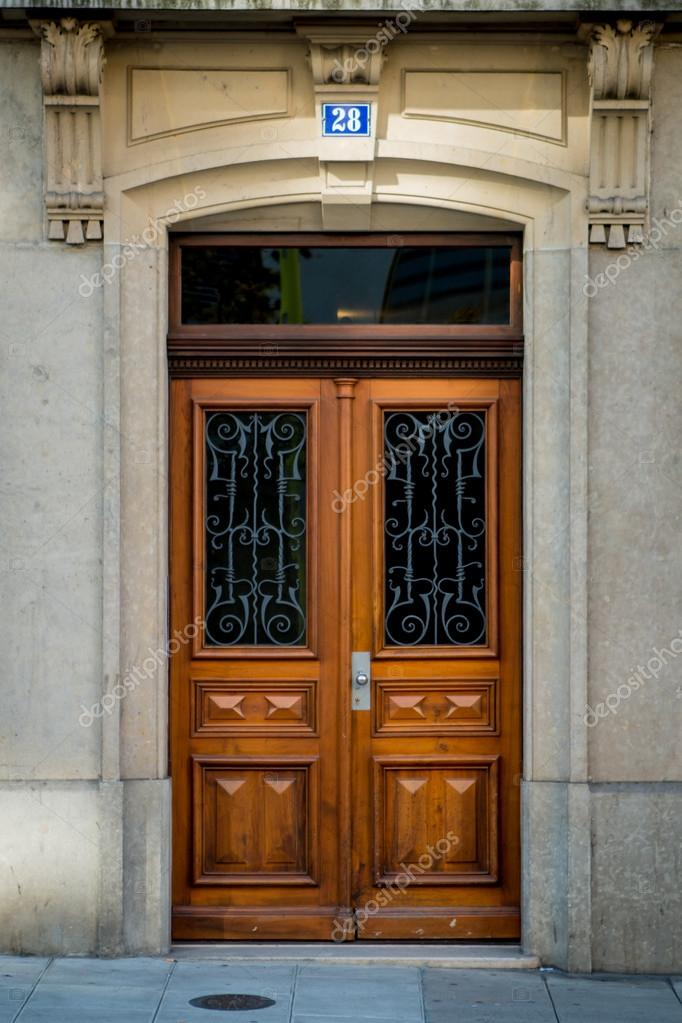Old style Wooden door \u2014 Stock Photo & Old style Wooden door \u2014 Stock Photo © CharliePhoto #56087115