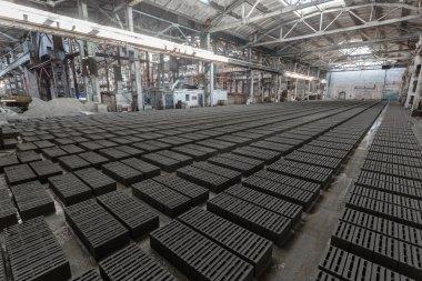 Stack of gray bricks