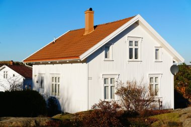 White wooden house with windows