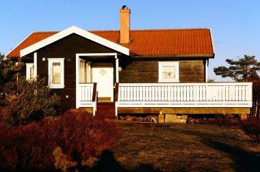 Old wooden summer cabin