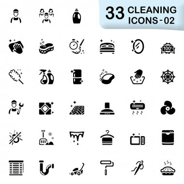 33 black cleaning icons 02