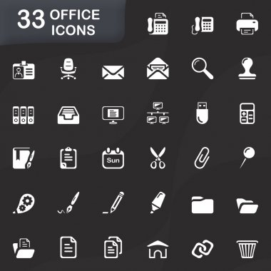 Office and bussiness icons stock vector