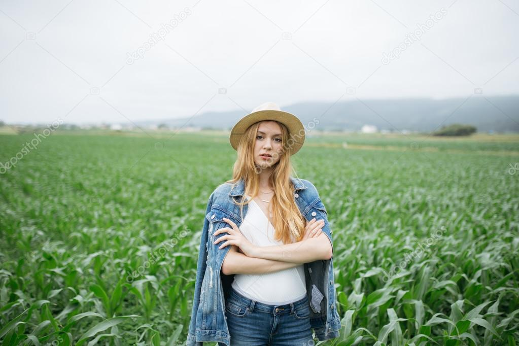 Young and beautiful blonde girl