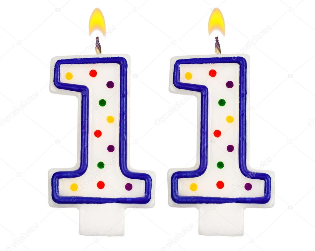 birthday candles number eleven  u2014 stock photo  u00a9 vladvm