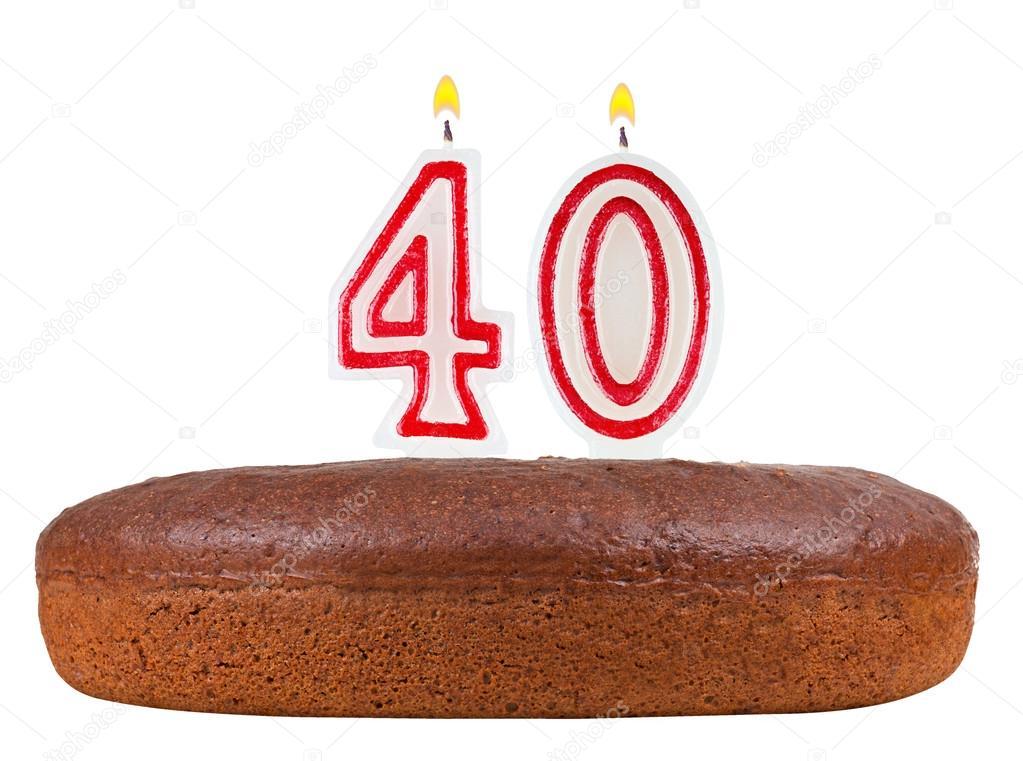 d'anniversaire avec le nombre de bougies 40 — photo #61873265