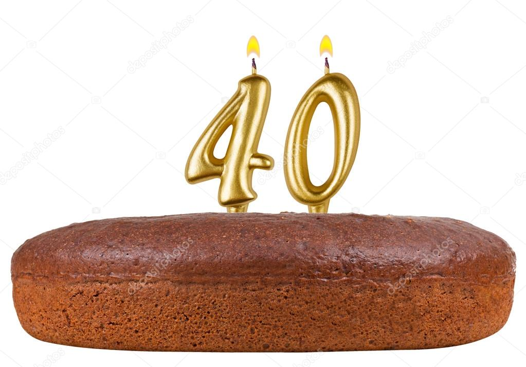 Birthday Cake Candles Number 40 Isolated Stock Photo Vladvm