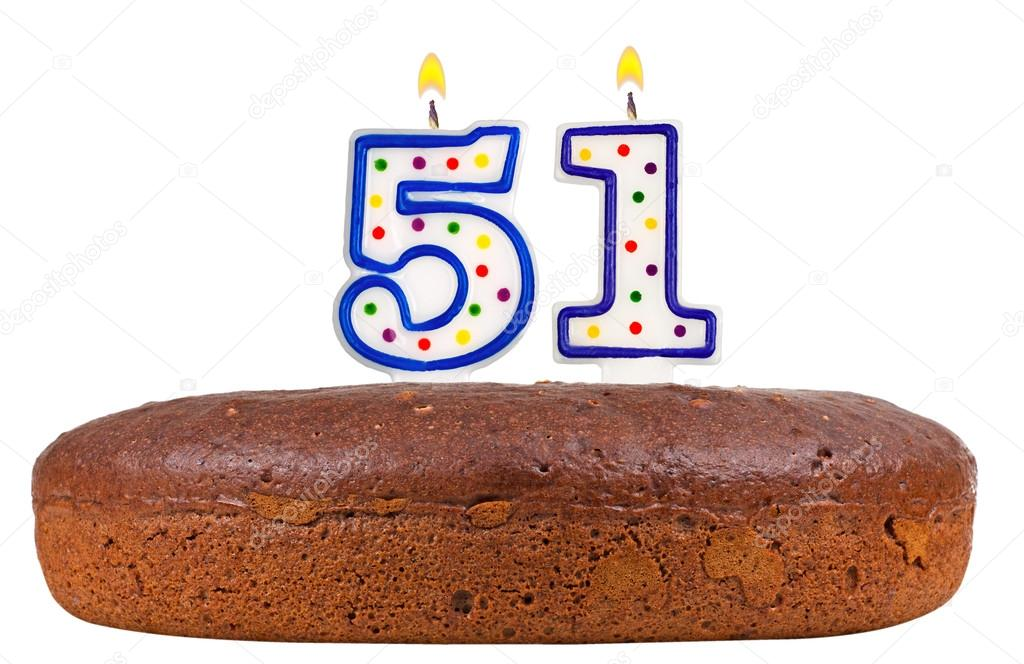 Birthday Cake With Candles Number Fifty One Stock Photo Vladvm