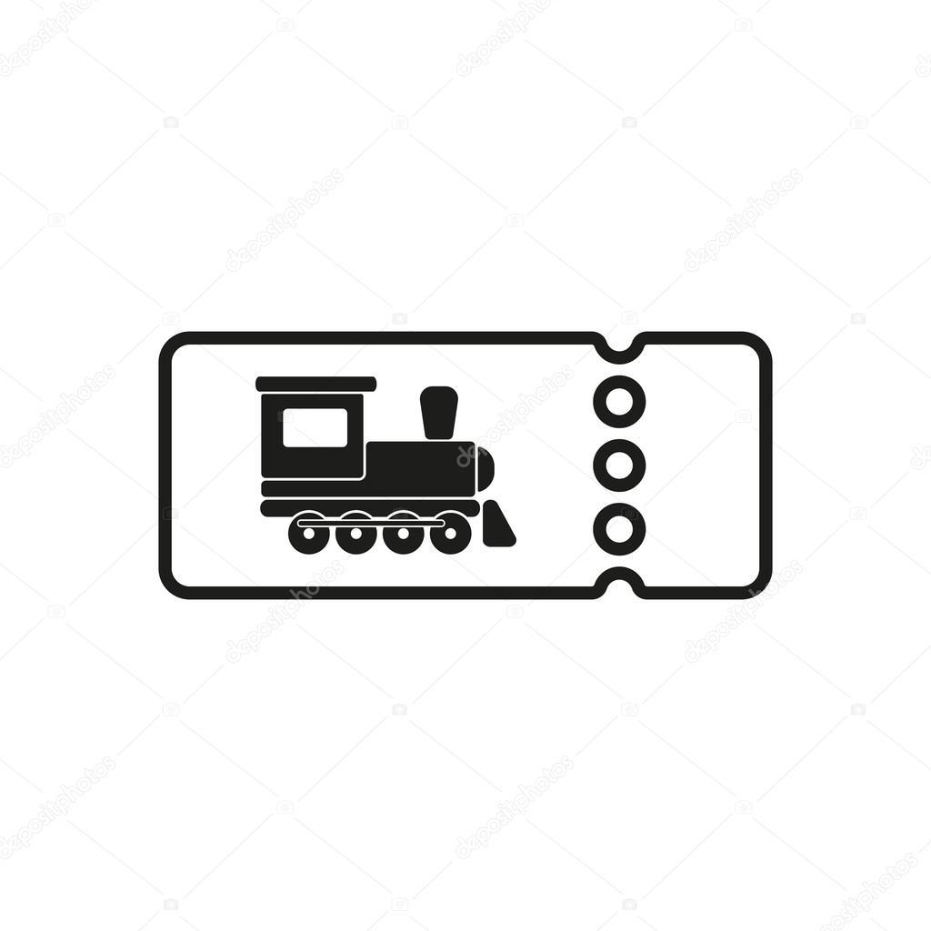 The Blank Train Ticket Icon Travel Symbol Flat Stock Vector