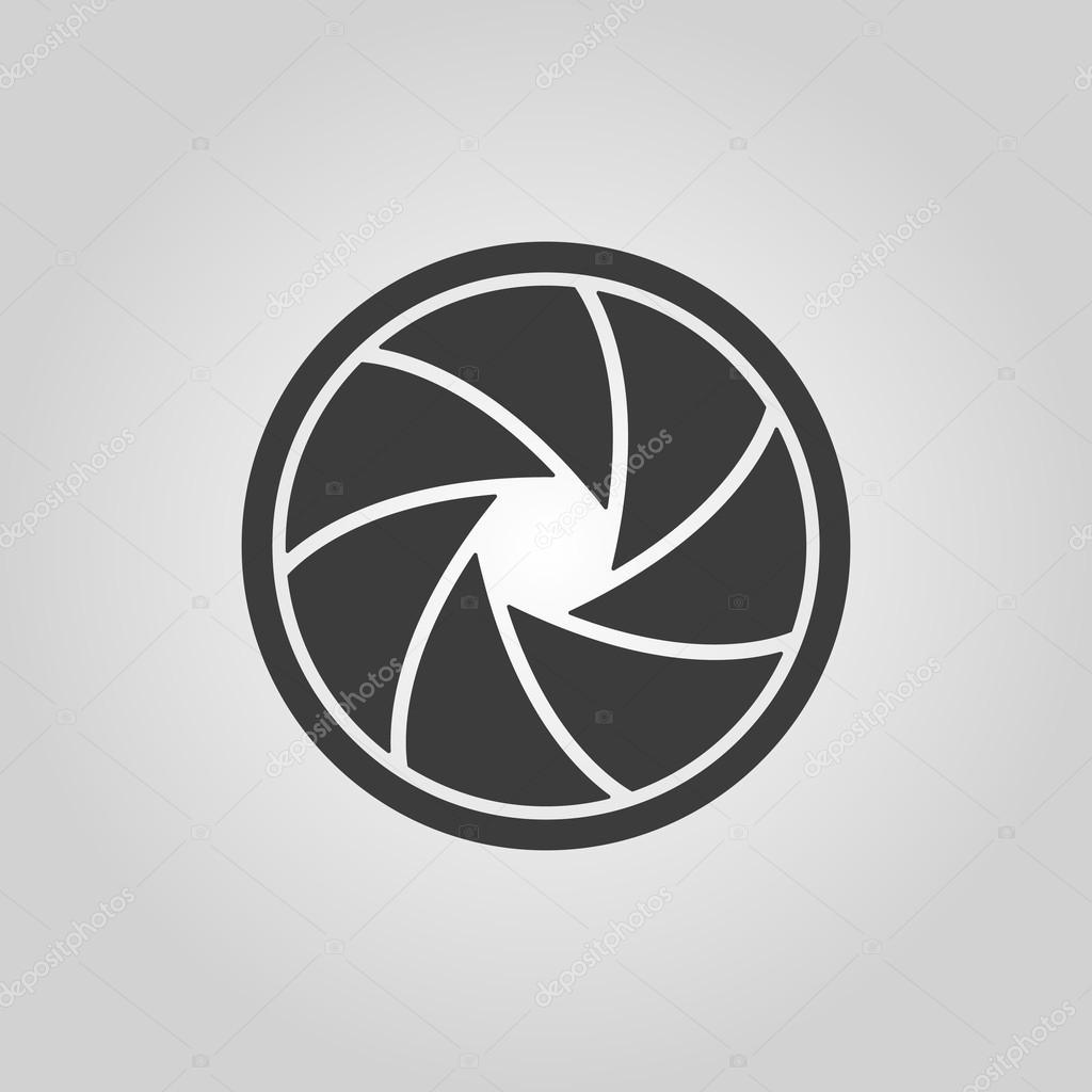 O ícone Do Diafragma Símbolo De Abertura Vetor De Stock Vladvm